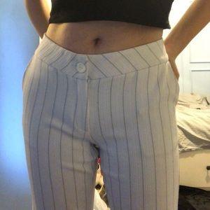 Pants - white stripped pants